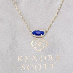 "Kendra Scott ""Elisa"" Gold & Blue Cats Eye Necklace"